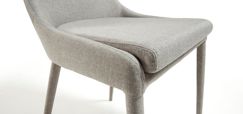 Dant chair - light grey fabric