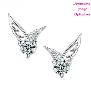 Fancy Alloy Earrings - Angel Wings
