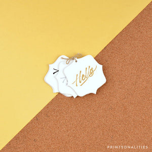 Gilded Gift Tags (24s) – Hello