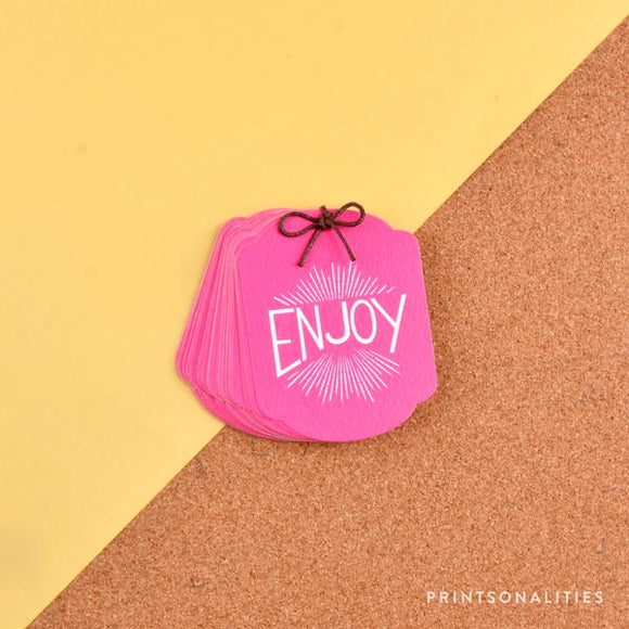 Merry Gift Tags (30s) – Enjoy – Fuchsia