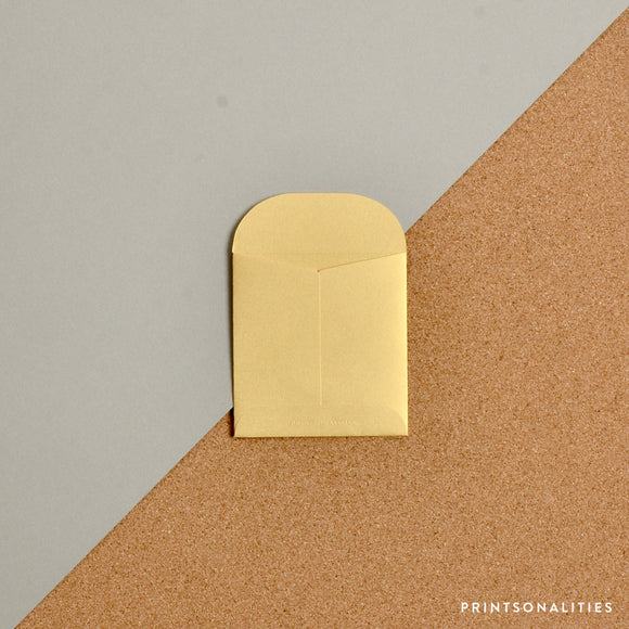 Mini Money Envelope – Metallic Gold