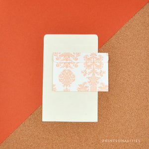Fold & Seal (8s) – Peach Vintage Damask
