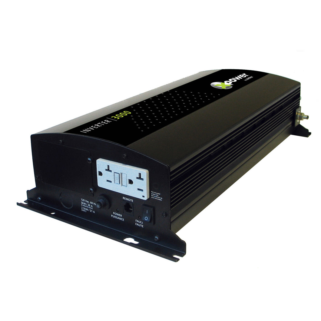 Xpower Inverter 12V 1000W 115VAC with GFCI