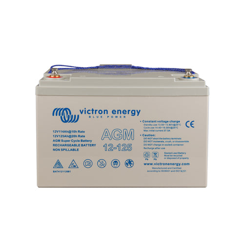 Victron Energy 12V/125Ah AGM Super Cycle Battery (M8)
