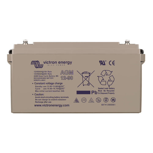 12V/90Ah AGM Deep Cycle Battery (M6)