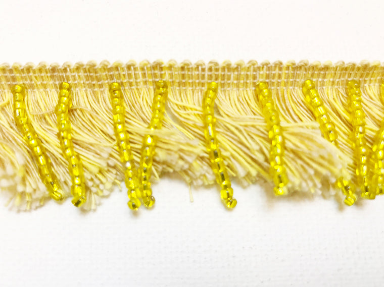 Fringe, Brush Beaded Yellow