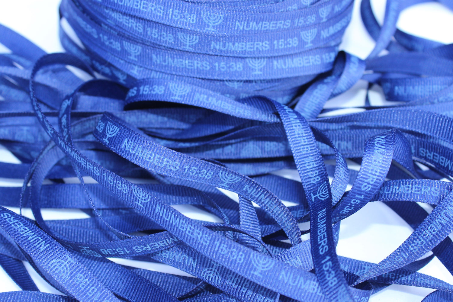 "Numbers 15:38 Dark Navy ""Grosgrain"" Ribbon"