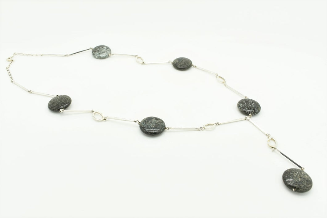Silver rods and Astrophyllite Necklace