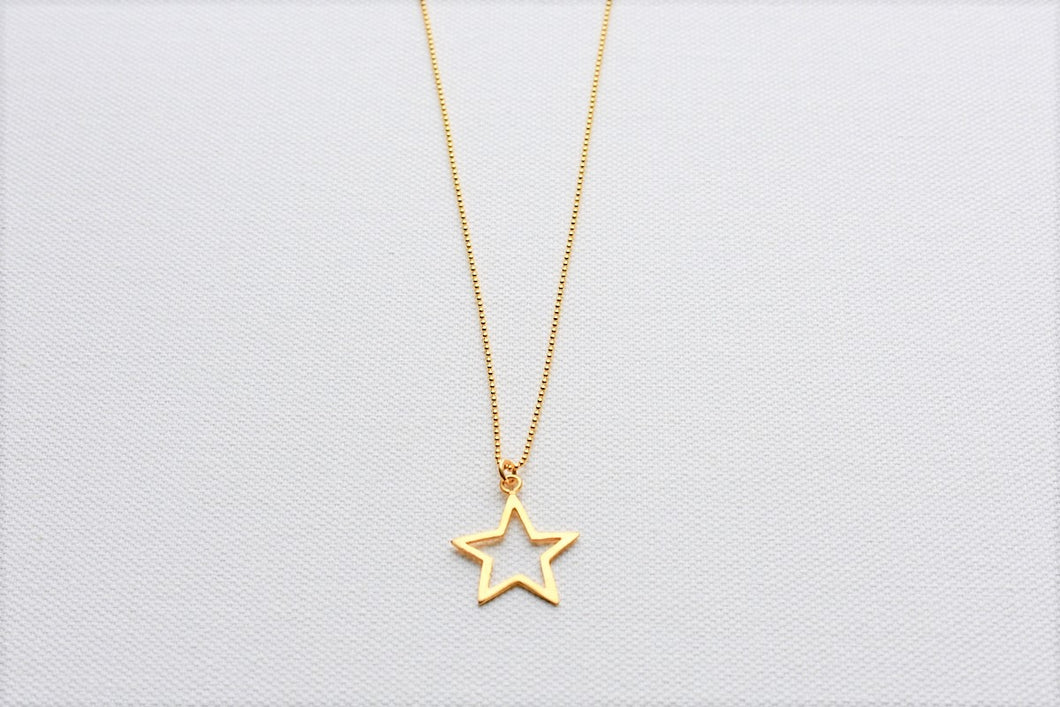 Handmade Gold Plated Silver Star Pendant