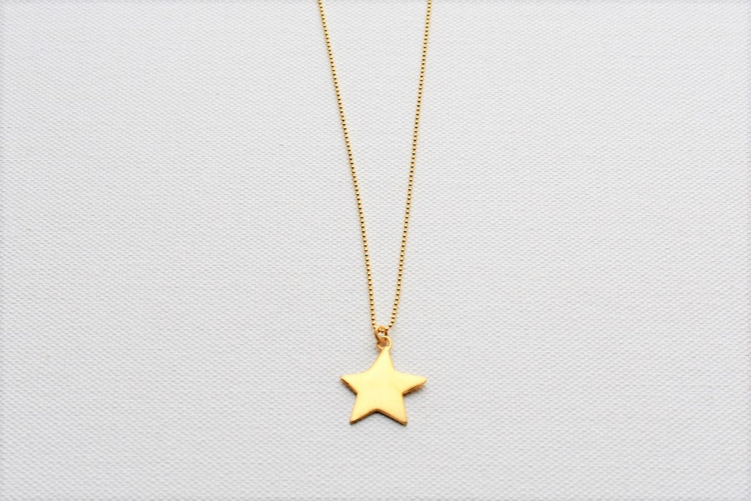 Gold Plated Silver Star Pendant
