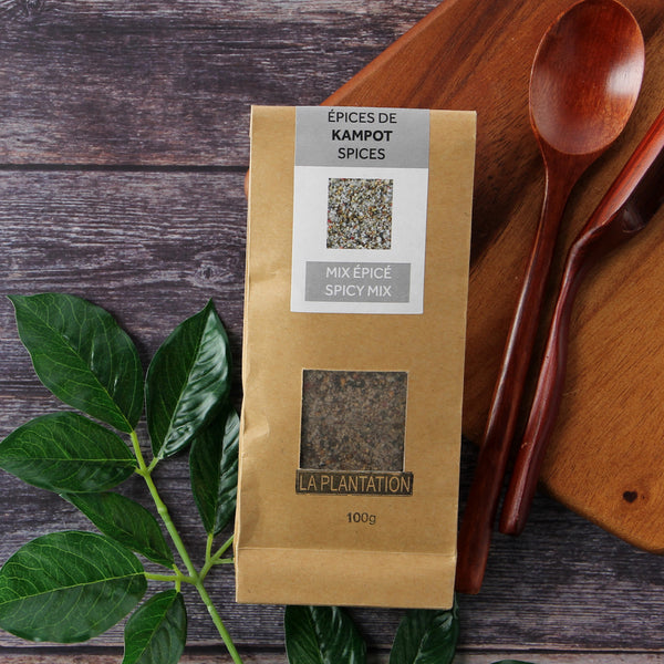 Kampot Flower of Salt with Kampot Pepper and spices 100g