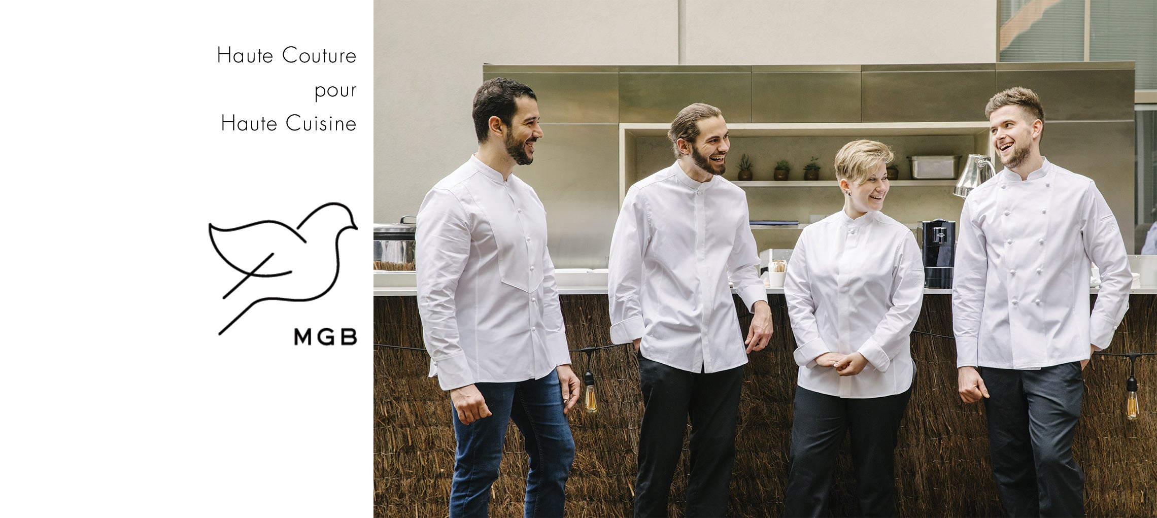 collection de vestes de cuisine MGB