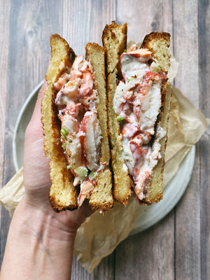 A lobster roll inspired sandwich