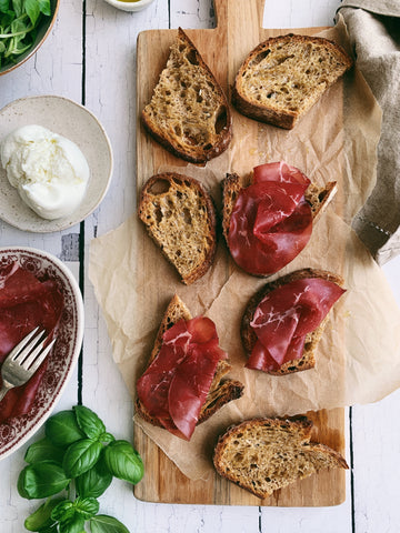 Bresaola and Fresh Mozzarella Tartine