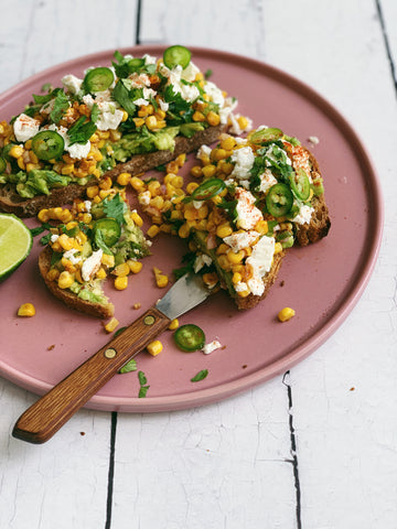 Mexican Street Corn Inspired Toast