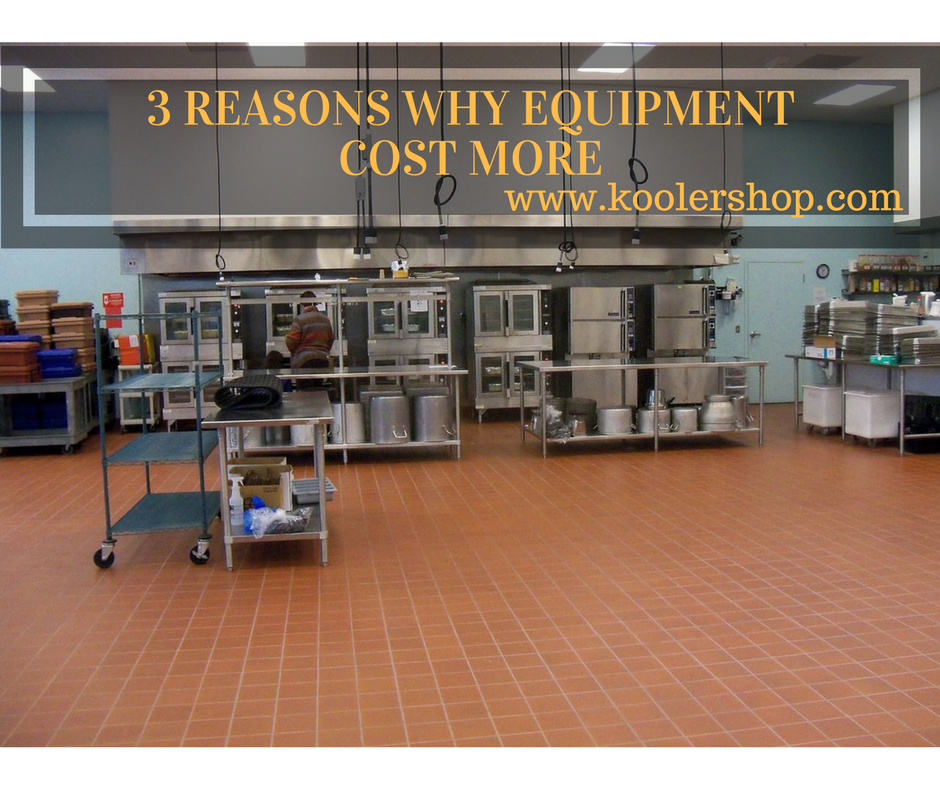 3 reasons why use equipment cost more