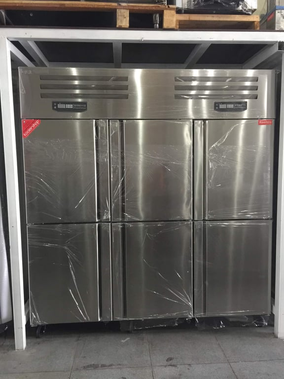 ZQR-L62 Upright 6 doors Kitchen Stainless Refrigerator