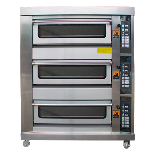 OVT-063SS Gas 3 Decks 6 Tray Bread Oven