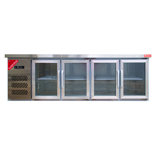 TLC-221G 4 Glass Door Static Cooling Counter Chiller 2.1m