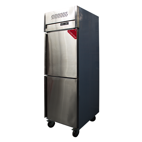ZQS-L21 Upright 2 doors Half size Kitchen Stainless Refrigerator
