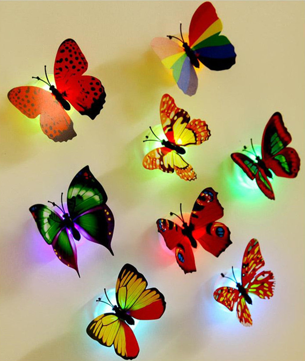 LED 3D Butterfly Stickers – WoW shoOp