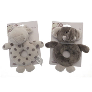 Branded Boutique Elli & Raff Plush Ring Rattle