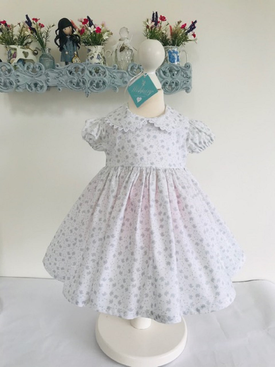 The Wishfairy Baby Danielle Dress (Little Grey Fluffy Sheep )