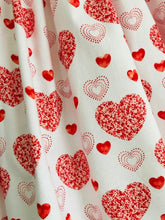 The Wishfairy Danielle Dress 'Large Red Hearts on White'
