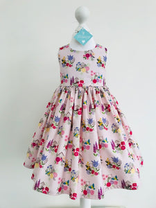 The Wishfairy Eve Dress 'Bird Houses on Pink'