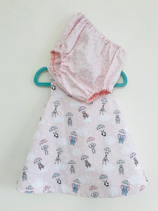 The Wishfairy Baby Nancy Dress with Pants 'Parachuting Animal Babies'