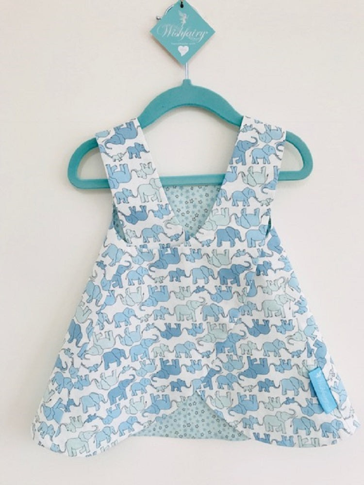 The Wishfairy Baby Nancy Dress with Pants 'Marching Elephant Family'