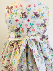 The Wishfairy Eve Dress 'Little Deer on Cream'