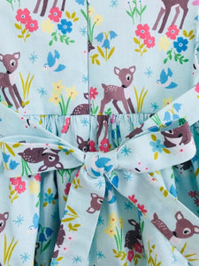 The Wishfairy Bunty Baby Dress (Little Deer on Mint)