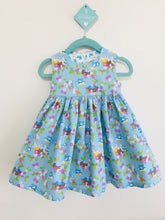 The Wishfairy Bunty Baby Dress (Bluebirds on Blue)
