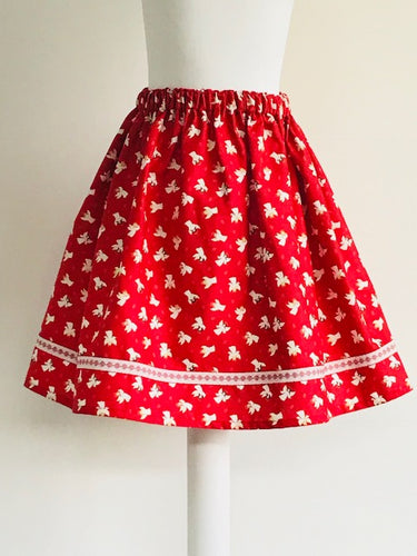 Wishfairy Suzy Skirt (Little Angels on Red)
