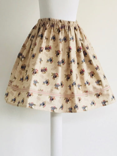 Wishfairy Suzy Skirt (Horse on Natural)