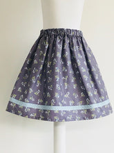 Wishfairy Suzy Skirt (Bluebells on Dusky Plum)