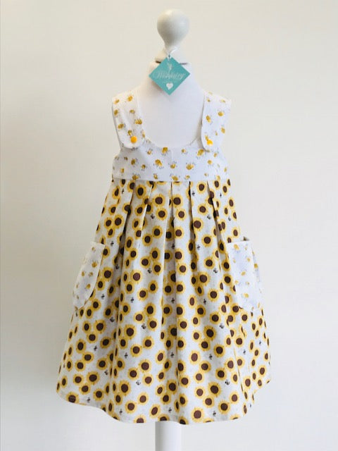 Wishfairy Polly Dress (Buzy Bee on Sunflowers)