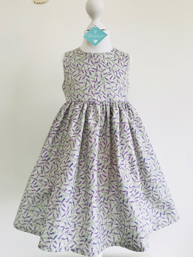 The Wishfairy Eve Dress 'Lavender on Sage'