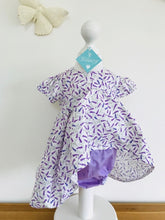 The Wishfairy Sara Ann Baby Dress and Pants (Lavender on White and Bees on Lavender)