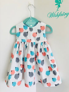 The Wishfairy Bunty Baby Dress (Fluffy Sheep)