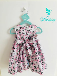 The Wishfairy Bunty Baby Dress (Lal the Lamb on Pink)