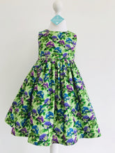 The Wishfairy Eve Dress 'Hydrangea Blooms on Green Fabric'