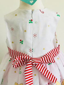 The Wishfairy Bunty Baby Dress (Christmas Fairy on White)