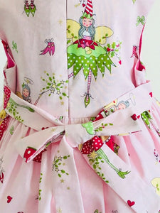 The Wishfairy Bunty Baby Dress (Christmas Fairy on Pink)