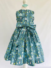 The Wishfairy Eve Dress 'Fairy House on Teal Glow in the Dark'