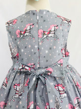 The Wishfairy Bunty Baby Dress (Unicorn on Grey)