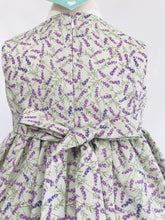 The Wishfairy Bunty Baby Dress (Lavender on Sage)