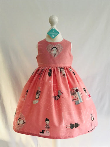 The Wishfairy Eve Dress 'Abbie on Salmon Pink'