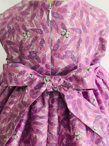 The Wishfairy Bunty Baby Dress (Buddleia on Lilac)